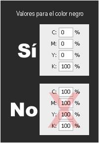 Valores para el color negro ideales. IMDEX Impresores. Badajoz